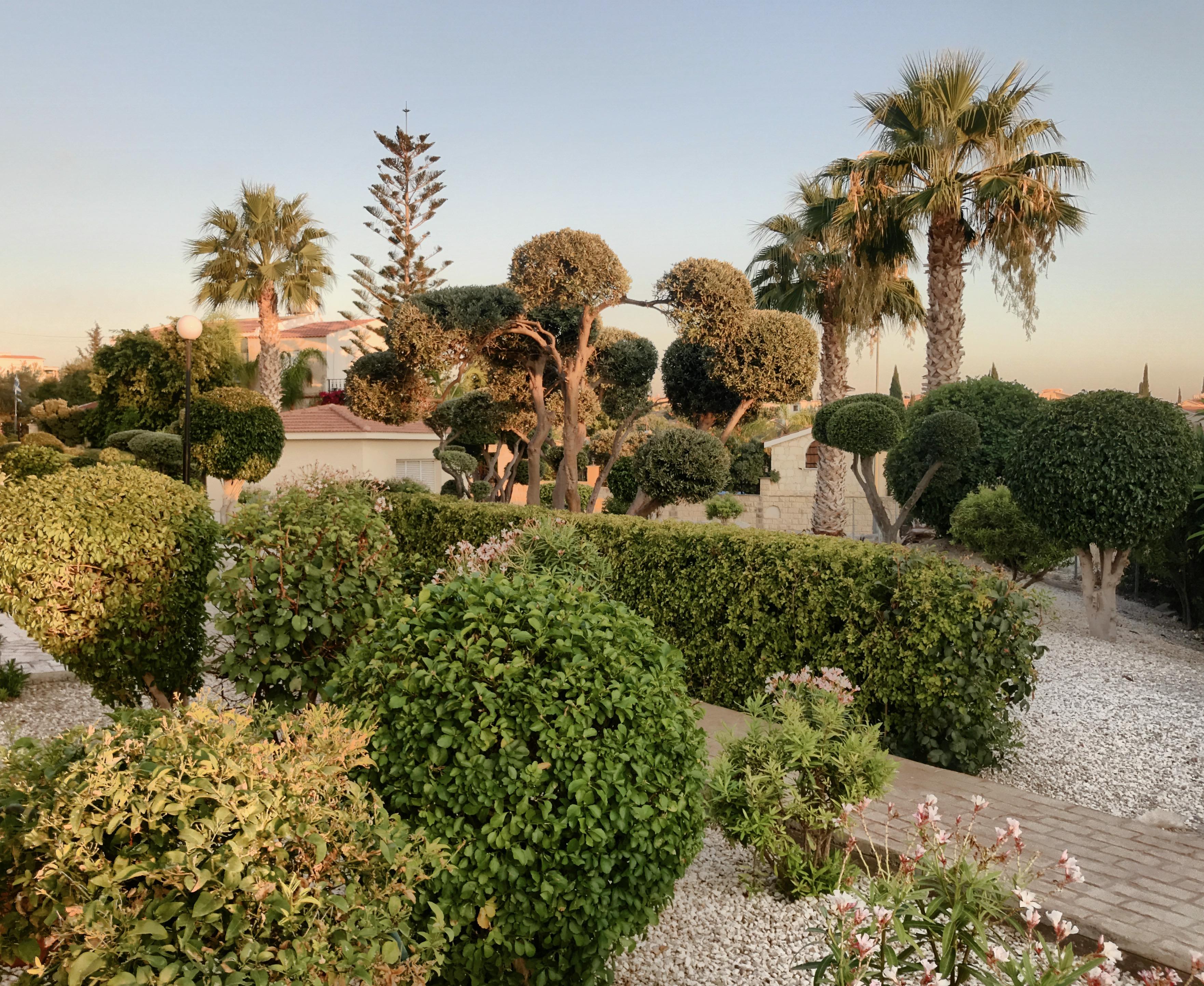 Cyprus apartment gardens
