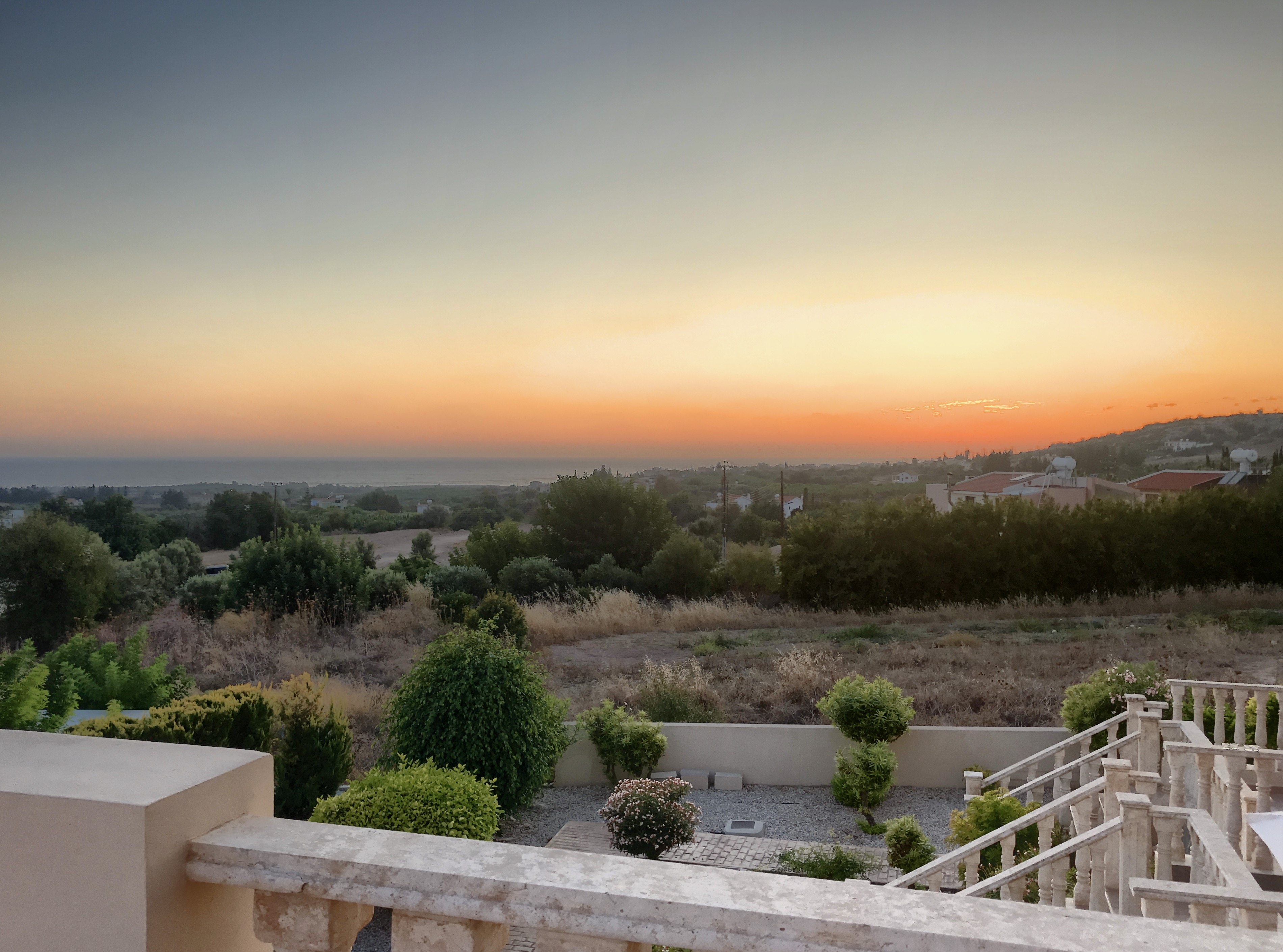 Cyprus apartment sunset view